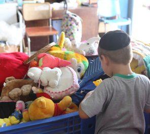פינת צעצועים לילדים נזקקים